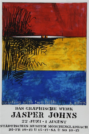 painting with two balls das graphische werk jasper johns städtisches museum mönchengladbach another 2 posters by jasper johns