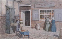 outside mistress lavinia vane's shop by charles paget wade