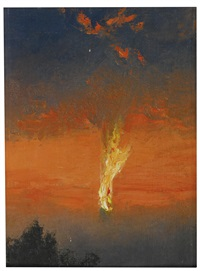 the burning zeppelin by charles spencelayh