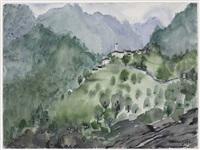 südtiroler landschaft by hans josef weber-tyrol