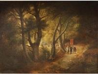 procession dans la forêt by léopold goffette