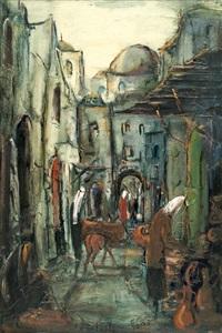 market figures, jerusalem by zvi raphaeli