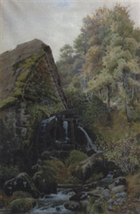 old mill, chagford, near exeter by charles l. saunders