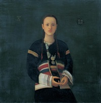 southern girl with silver ornament by jiao xiao jian