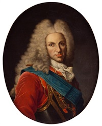 retrato de felipe v, busto, con el toisón by jean ranc