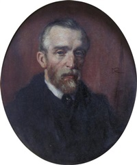 portrait of a red-bearded gentleman by george reid