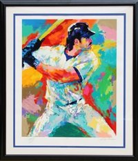 mike piazza by leroy neiman