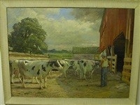 at milking time by john p. heiden