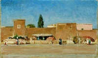 pottery market, marrakesh by maurice grosser
