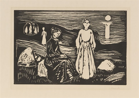frauen am strand by edvard munch