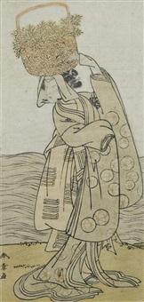 der schauspieler nakamura nakazo i als shinoburi by katsukawa shunsho