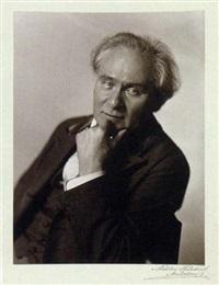 portrait des buchgestalters melchoir lechter by theodor hilsdorf