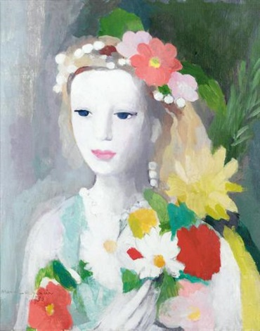Jeune fille la guirlande de fleurs by marie laurencin on artnet - Guirlandes de fleurs ...