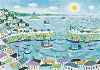 mousehole harbour by joan gillchrest