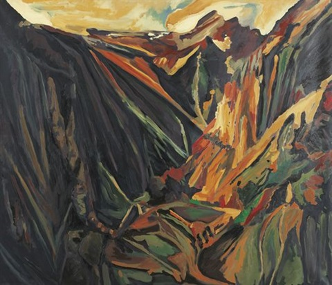 david bomberg valley of la hermida picos 1935 by michael ashcroft