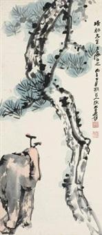 芝松祝寿 by zhang daqian