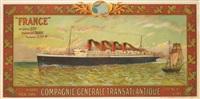 france/compagnie générale transatlantique/french line by eugène d' argence