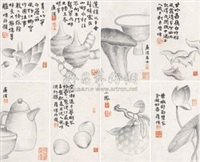 乡居风物册 (paintings album) (album w/10 works) by xue huai
