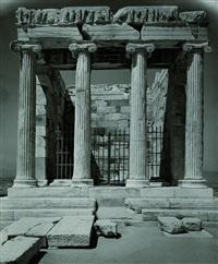 frontansicht auf den nike tempel von athen by walter hege