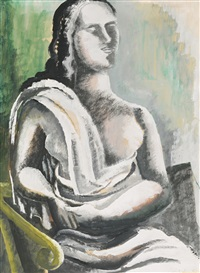 femme assise by ossip zadkine
