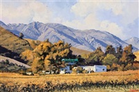 autumn colours in the keurkloof by ted (tjeerd adriaanus johannes) hoefsloot