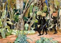trois africains dans la forêt by lucien martial