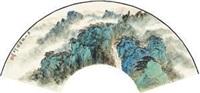 黄山积翠图 by xu jianming