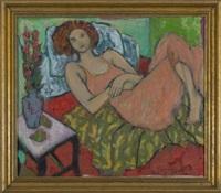 reclining woman by cynthia packard