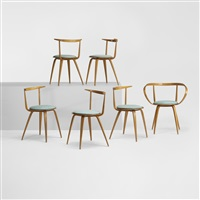 pretzel chairs (model 5890) (set of 6) by george nelson & associates
