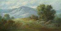 oak in a california landscape by carl sammons