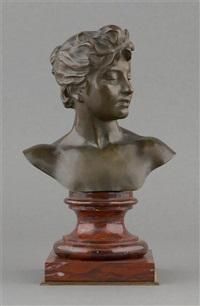 buste de jeune femme by alexandre de tombay