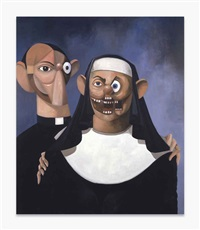 nun and priest by george condo