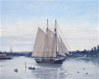 a maine lumber schooner by charles f. kenney