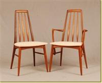 deux fauteuils et quatre chaises (set of 6) by niels koefoed