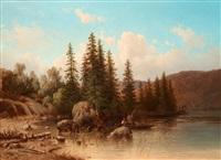 landskap från dalarna (partie i elfdalen) by joseph magnus stack