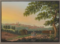 blick auf lausanne by johann heinrich bleuler the younger