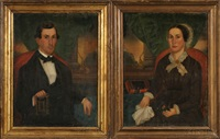 samuel bender (+ his first wife, margaret; pair) by gloria welby fisher