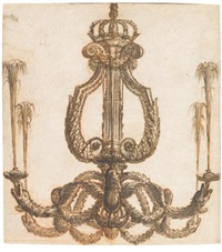 a design for a fountain chandelier for the grotto of thetis at versailles by charles le brun