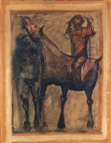 cavallo e giocolieri by marino marini