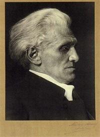 portrait des schriftstellers stefan george als 60-jähriger by theodor hilsdorf