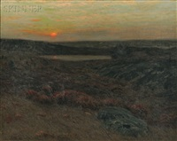 sunset in new england by charles warren eaton