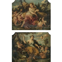 allegory of spring (+ allegory of summer; pair) by italian school-northern (19)