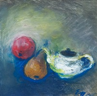 still life with a teapot by elvi maarni