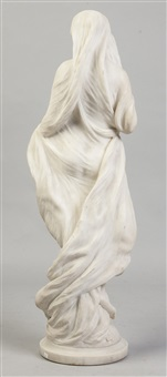 carved marble of a vestal virgin by orazio andreoni