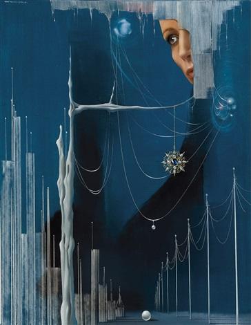 femme au pendentif by remi van den abeele