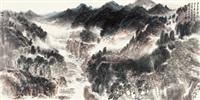 溪古琴音 镜片 设色纸本 by xu qinsong
