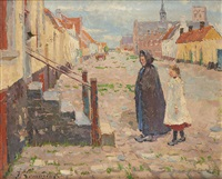 promenade dominicale by adrien jean le mayeur de merprés