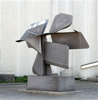 monumental abstract sculpture by ernest tino trova
