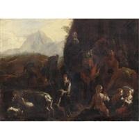 contadini con il gregge by dirk helmbreker