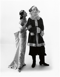 dorian leigh and ray bolger, vogue cover by irving penn
